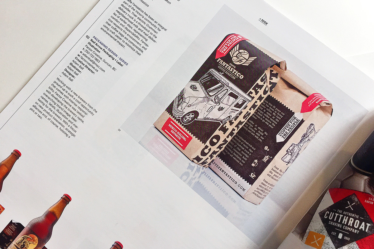 Our Caffe Fantastico bag design featured in the Applied Arts Magazine
